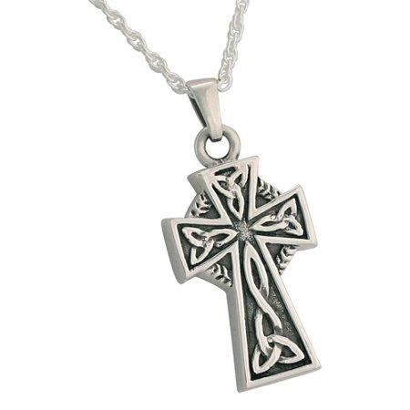Silverlight Urns Celtic Cross Cremation Jewelry Pendant