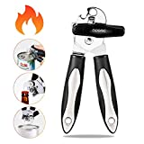 Can Opener Stainless Steel Manual Can Opener with Smooth Edge Jar/Bottle Opener