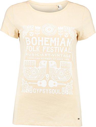 O'NEILL Boho Festival Camiseta, Mujer, Creme Brul, Medium