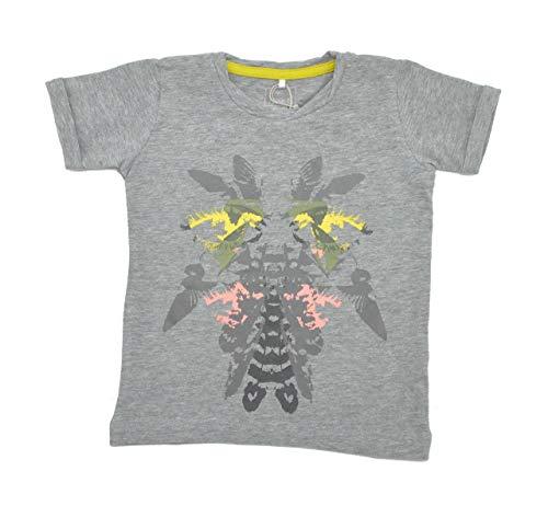 Name It T-Shirt pour Fille avec imprimé en Coton Bio Gris - Gris - 18 Mois