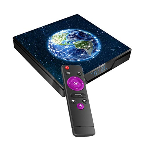 YGQNH Receptor De Dongle, X99 MAX Smart Android9.0 TV Box UHD 4K Media Player 2.4G / 5G WiFi De Doble Banda Amlogic S905X2 4GB DDR4 32GB EMMC con Control Remoto(Size:4+32GB)