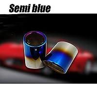 LKAIBIN FOR BMW F10 F11 F07 E12 E28 E34 E60 E61CARステンレス鋼のカーマフラーエキゾーストテールスロートライナーパイプ車の形状排気テールピップ (Color : Dark Grey)