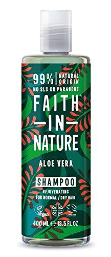 Faith in Nature – 100% natuurlijke shampoo met aloë vera voor alle haartypes – voor veelvuldig wassen – vrij parabenen – veganistisch.