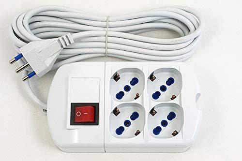 Regleta eléctrica de 4 tomas, 250 V/3500 W, cable con enchufe 16...