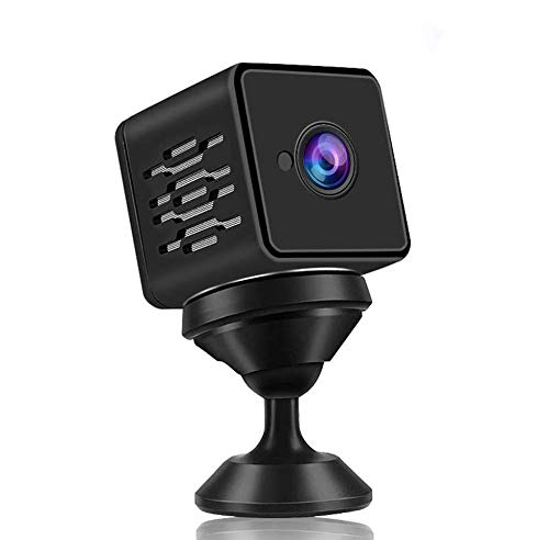 WZTO Mini Camera WiFi Wireless Remote Live Video Camera 1080P HD Home with Talk Two Way Security Monitor Upgraded Night Vision Indoor Motion Detection 150 ° Wide Angle Covert Surveillance Video Camera