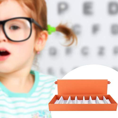 Estuche de Almacenamiento Organizador Portátil Prevención de Polvo Gafas Vitrina Mano de Obra Exquisita Tela Oxford Gafas de Sol de Viaje ordenadas y ordenadas(Orange, Blue)