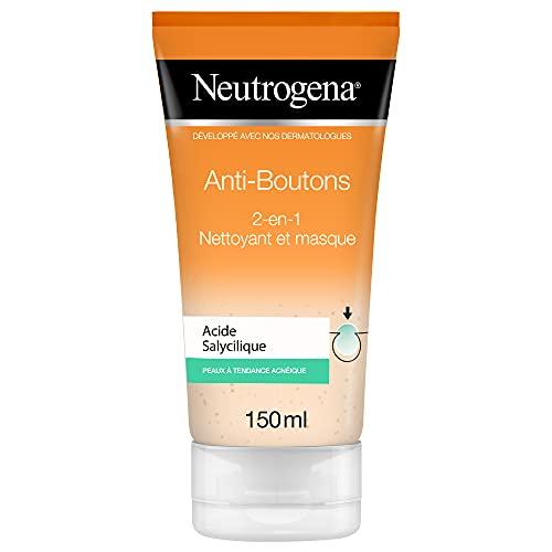Neutrogena Anti-boutons 2-en-1 Nettoyant et Masque – peaux à tendance acnéique - 1 x tube de 150 ml