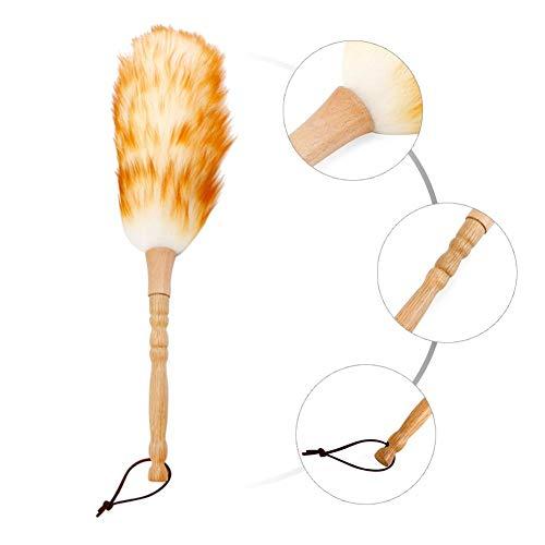 Rekbare plumeau stof, plumeau I antistatische microvezels, niet-statisch stofhaar in de woonkamer met bamboe handvat Duster voor alle oppervlakken, verwijdert moeiteloos stof en spinweven