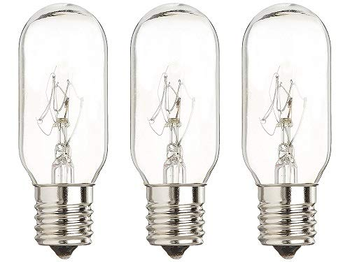 GoodBulb Microwave Light Bulbs - GE Microwave Model JVM1631BB007 - Replacement for WB36X10003 Bulb - E17 Intermediate Screw Base - Features 40 Watt & 130 Volt, Pack of 3