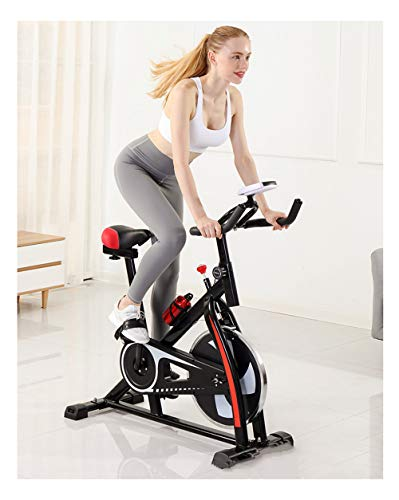 QWET Indoor Cycling Bike, Belt Drive Indoor Heimtrainer, stationäres Fahrrad für das Cardio Workout Bike Training zu Hause