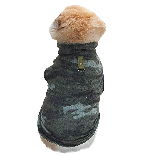 Allegorly Haustier Hunde Sweatshirt Mini Hündchen Welpe Fleece Sweater Weste Mit Schnalle Winter Warme Süß Plüsch Hundemantel Weich Elastisch Hundejacke Shirt