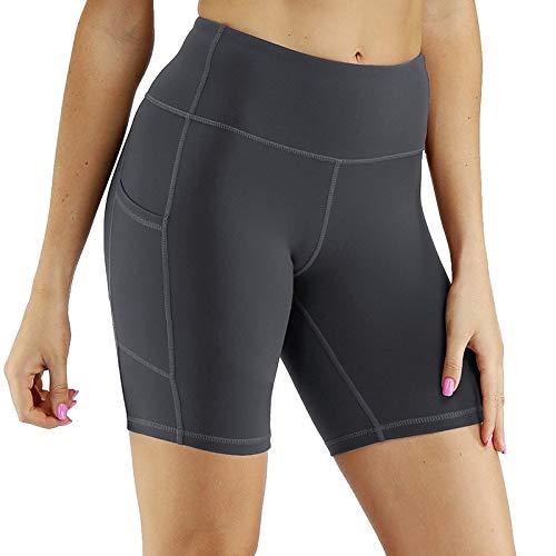 Pantalones cortos de yoga para mujer,Con cintura alta polaina shorts,pistola deportiva Fitness ceniza Biker Shorts verano ejecutando Playa atléticos casual pantalones de yoga ejercicios para la muje