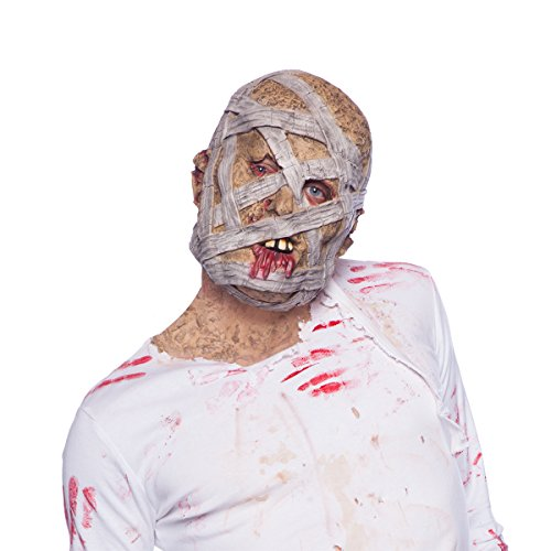 Folat 23824 Horror Latex Maske Grusel Mumie Halloween, Multicolor