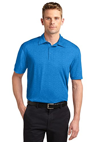 Sport-Tek® Heather Contender™ Polo. ST660 Blue Wake Heather L