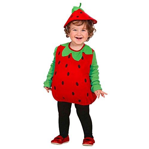 NET TOYS Déguisement pour Enfant Fraise Fruit Déguisement 90-104 cm Fruits Déguisement de Carnaval Costume de Fraise Fruit Enfants Tenue Carnaval Déguisement 90-104 cm/3 Ans