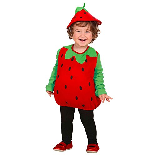 NET TOYS Disfraz de Fresa para niño Carnaval Vestido de Frutas niños Traje de Carnaval