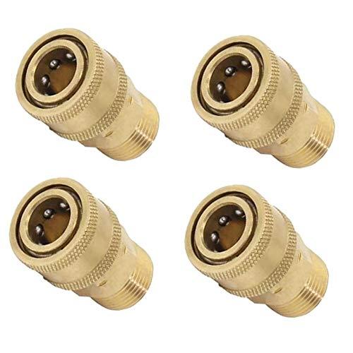 N / A 4pcs M22 auf 1/4 Male Druckreiniger Quick Release Anschluss Steckverbinder