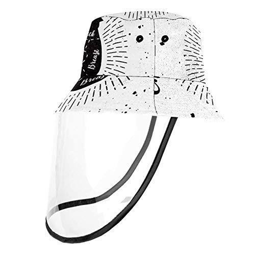 Mummi Sommer-Sonnenhut Eimer verstaubar Hüte Retro weiß Huhn Schnittmuster Fischerhut Anti UV Sonnenhut Gr. Large, mehrfarbig