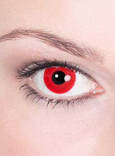 Satan / Teufel Kontaktlinsen / Monatslinsen - Motivlinsen ohne Sehstärke - Unisex - Erwachsene - ideal für Halloween, Karneval, Motto- und Horror-Party