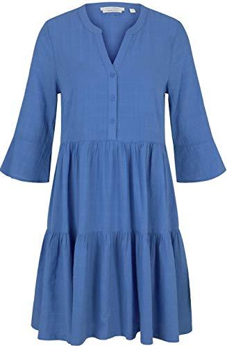 TOM TAILOR Denim Damen 1025410 Babydoll Kleid, 26676-Mid Blue, M