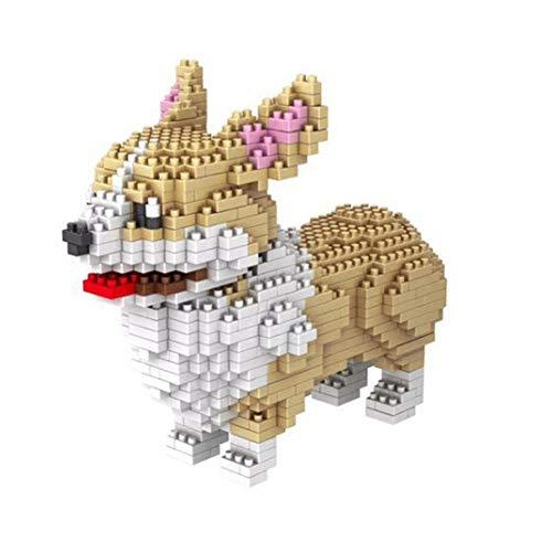 SYZXH 950+ PCS Dog Building Blocks Toys Corgi DIY Modelo Building Blocks Fiesta de cumpleaños Regalos Chicos y niñas