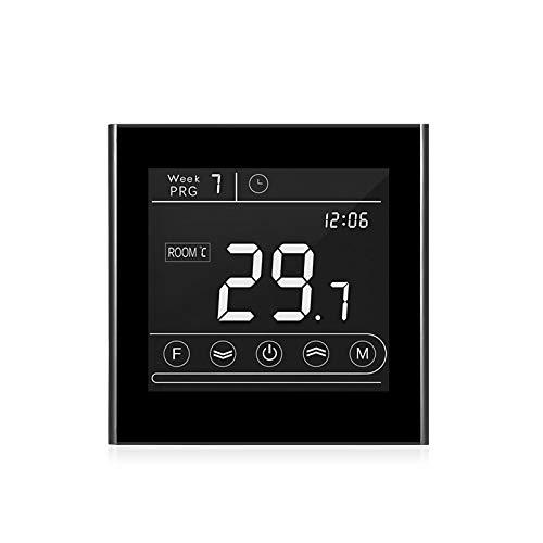 Kecheer Termostato wifi caldaia gas programmabile,cronotermostato wifi caldaia gas touchscreen,Termostati digitali compatibile con TUYA app,con retroilluminazione