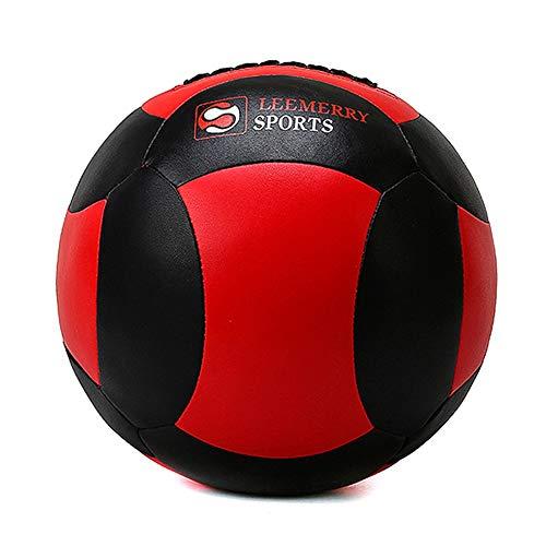AGYH Medizinbälle Weicher Medizinball, Leder-Wand-Ball Gymnastikball, Kern Gleichgewicht Trainingsball Home Gym Yoga Hall, 3 Farben, 2kg/4kg/6kg/8kg/10kg (Color : Red+Black, Size : 10kg/22lb)
