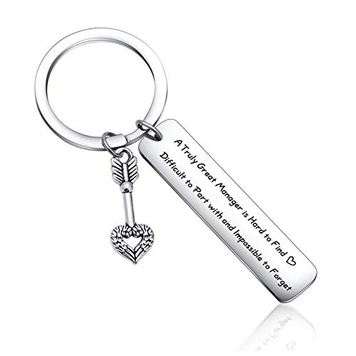 Manager Appreciation Keychain for Manager Moving Away Gift Farewell Keychain Boss Gift Coworker Birthday Gift for Manager Retirement Jewelry for Coach Gift Mentor Gift Coworker Jewelry Manager Gift
