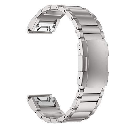 ANBEST Fenix 6 Band Titanium Alloy Replacement Watch Straps 22 mm
