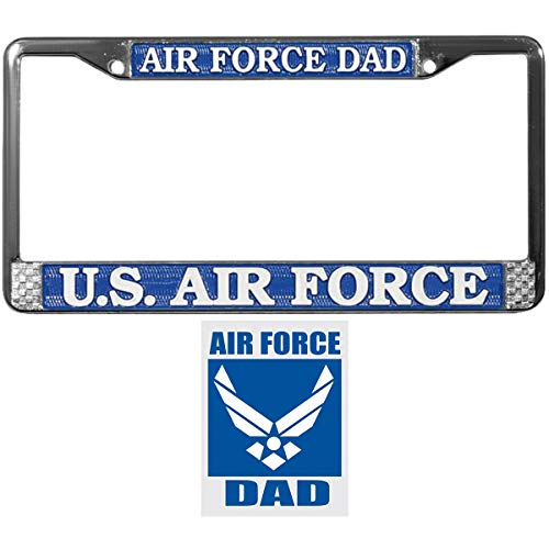 Air Force DAD License Plate Frame Bundle with Air Force DAD Decal