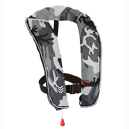 Eyson Inflatable Life Jacket Inflatable Life Vest for Adult Classic Manual (White Camouflage)
