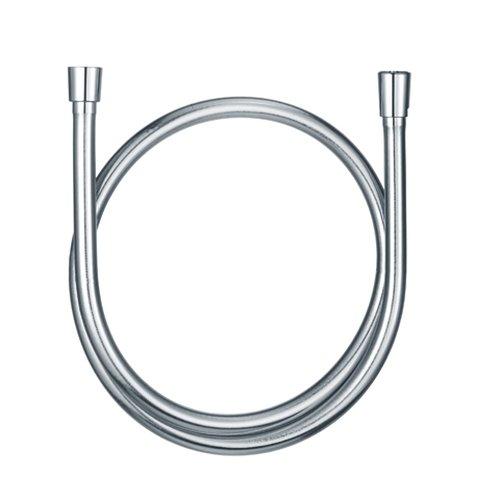 Kludi Suparaflex Brauseschlauch Metalleffekt, konischen Muttern chrom, silber, 6107105-00