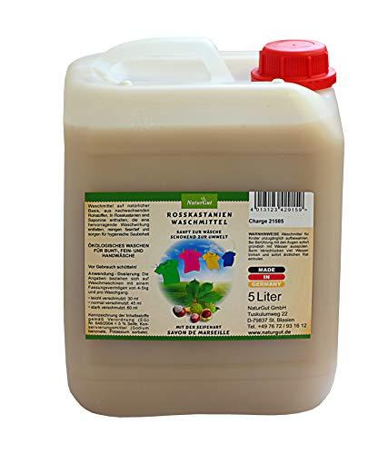NaturGut Rosskastanien Waschmittel - 5 L natürliches und hautfreundliches Waschmittel - flüssiges Waschmittel mit Savon de Marseille verstärkt - MADE IN GERMANY