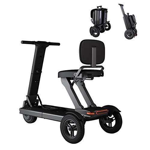 YF-Mirror Patinete de Movilidad de 3 Ruedas: Patinete eléctrico Plegable Ligero y...