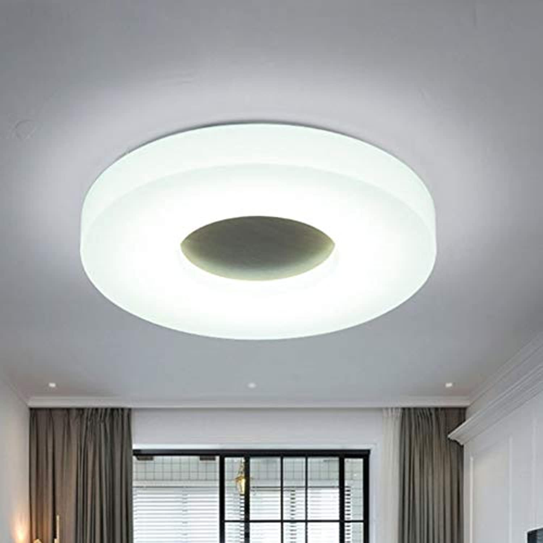 LRXHGOD Ultradünne runde LED Deckenleuchte Acryl Holz ...