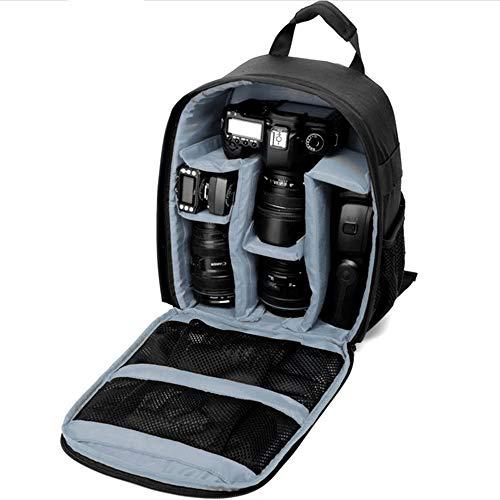 LERDBT Cajas de la cámara Estuche Resistente al Agua Bolsa Acolchada con Bolsa de Lente de la cámara de Almacenamiento Mochila Fotografía y Viajes Informal (Color : Gray, Size : One Size)