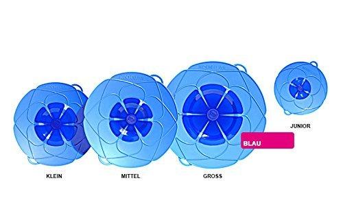 Kochblume Deckel Blume XS, Silikon, Blau, 22cm