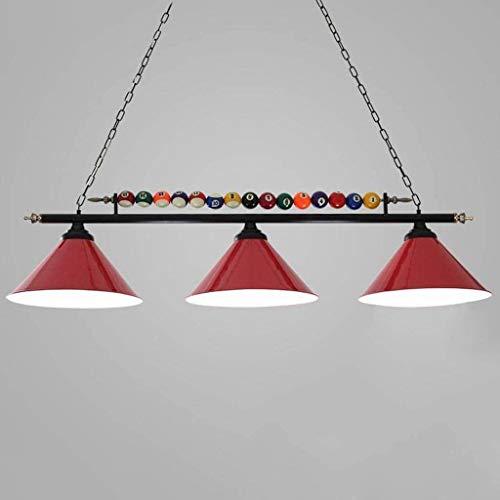 Lights Kronleuchter - Tischleuchte LED-Lampen Snooker Restaurant Cafe Beleuchtung Poolbeleuchtung Dekorationen (Farbe : Red)