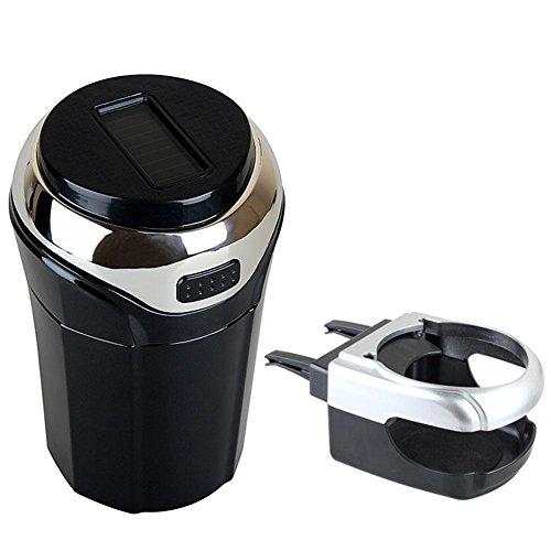 Preisvergleich Produktbild NACHEN Auto Aschenbecher Cup Holder mit Abnehmbare LED Mini Leuchtende Induktionslicht,  Solar Charge