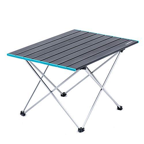 Mesa de Camping Portátil Ligera Mesa Plegable de Aluminio Mesas Compactas Enrollables con Bolsa de Transporte para Acampar al Aire Libre Senderismo Picnic Mochilero,XL