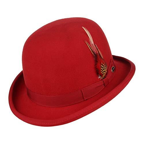 CHENGWJ Cap Fedoras Mannen Wol Voelde Veer Derby Bowler Hoed Voor Mannen/Vrouwen Satijn Gevoerd Mode Partij Formele Kostuum Magician Cap Top hoed