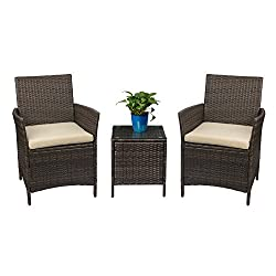 Devoto Patio Porch Furniture Rattan Wicker Chairs