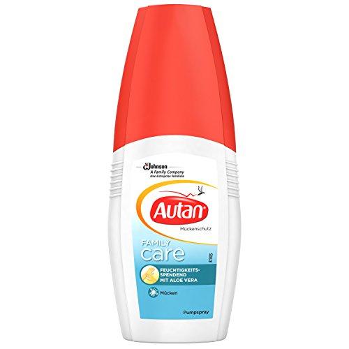 Autan Family Care, feuchtigkeitsspendender Mückenschutz mit Aloe Vera, Pumpspray, 1er Pack (1 x 100 ml)