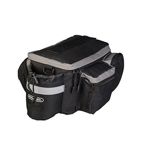 TopSun Roswheel Rear Seat Trunk Bag Handbag Bag Pannier for Bicycle Black