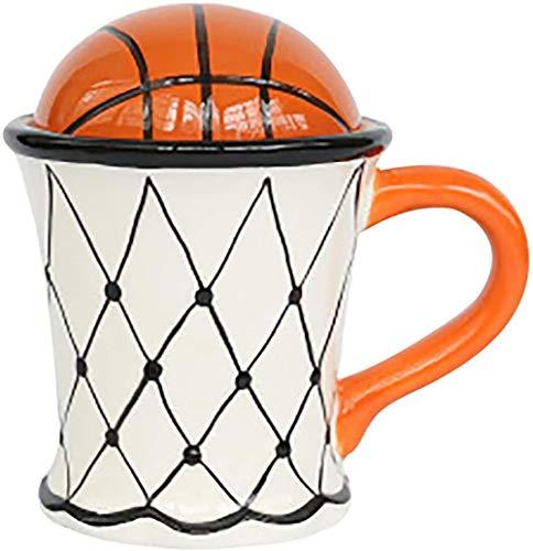 QMHN Taza de café de fútbol de baloncesto reutilizable para café, té y bebidas frías, colección de entusiastas de los deportes de pelota -A