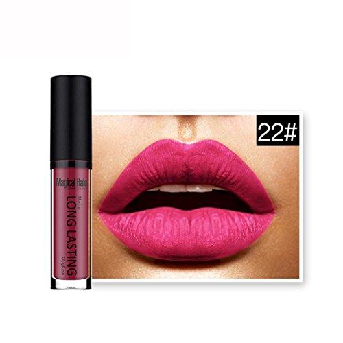 Fulltime 20 Couleurs Rouge à lèvres liquide mat imperméable à lèvres Gloss longue durée (35#)