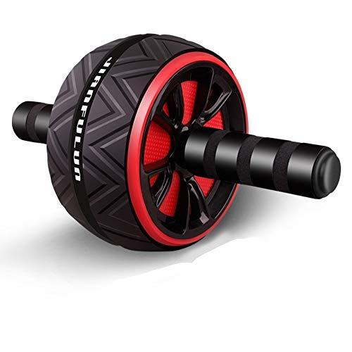 Rullo per esercizi addominali con tappetino per ginocchia extra spesso, per esercizi con ruote addominali, palestra, allenamento muscolare e addominali, tappetino antiscivolo per uomo e donna