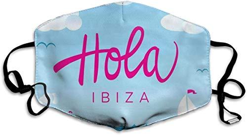Alquiler de coches Hola Ibiza Schriftzug Kalligraphie Windboote auf dem Ozean mit...