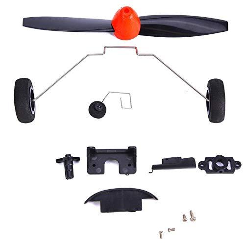 Zimaes Excelente RC Vulnerable Piezas Kit Drone Piezas DE Recambio para WLTOYS A430 RC Control Remoto Sin Remepas Aircraft Glider Accesorios Vulnerables Kit Suave (Color : Black)