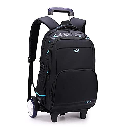 Zaino da viaggio a 6 ruote, multifunzione, impermeabile, in nylon, per studenti, spalle e spalle
